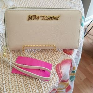 Clearance Betsey Johnson wallet with strap